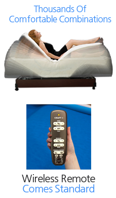 memory foam adjustable beds | craftmatic® adjustable beds