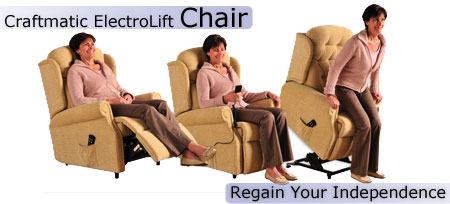 Electric Reclining Lift Chair - Regain your Independence  sc 1 st  Craftmatic Adjustable Bed & Electric Reclining Lift Chair Benefits - Craftmatic ElectroLift ... islam-shia.org