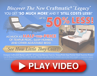 craftmatic® beds - new pillow rest adjustable beds - to 50% less